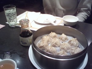 Juicy pork dumplings at Din Tai Fung